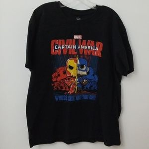 Marvel Pop Graphic Tee Shirt Captain America